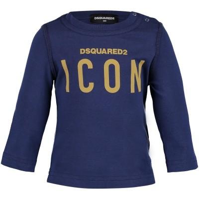 Afbeelding van Dsquared2 DQ031Q baby t-shirt navy
