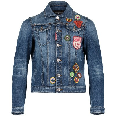 Picture of Dsquared2 DQ03G6 kids jacket jeans