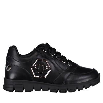 Afbeelding van Philipp Plein BSC0078 kindersneakers zwart