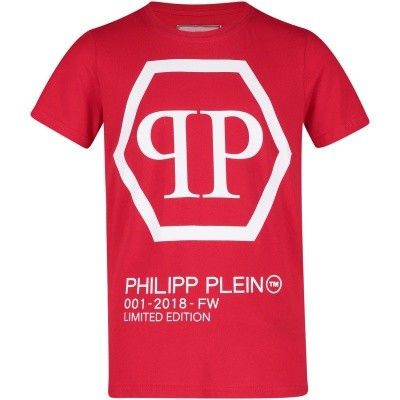 Afbeelding van Philipp Plein BTK0550 kinder t-shirt rood
