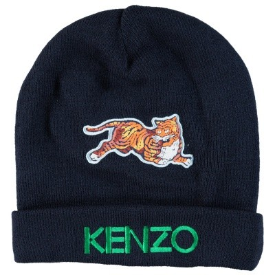 Picture of Kenzo KM90518 kids hat navy