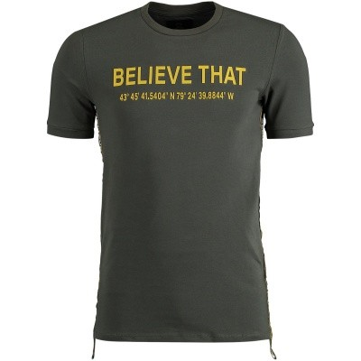 Afbeelding van Believe That BLVTTS180605 heren t-shirt army