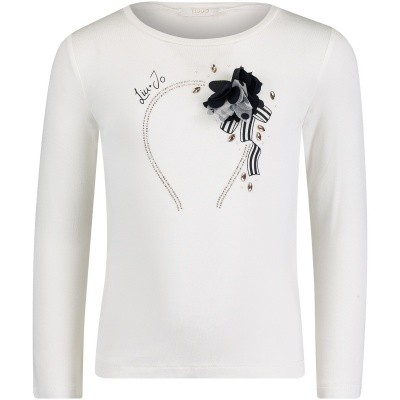 Afbeelding van Liu Jo K68049 kinder t-shirt off white