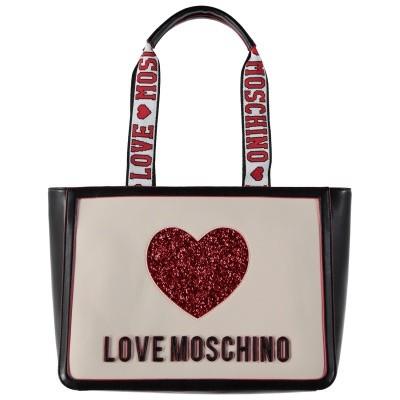 Afbeelding van Moschino JC4154 dames tas off white