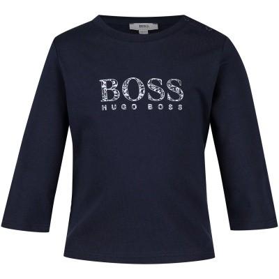 Afbeelding van Boss J95257 baby t-shirt navy