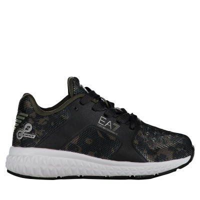 Picture of EA7 XSX001 kids sneakers army