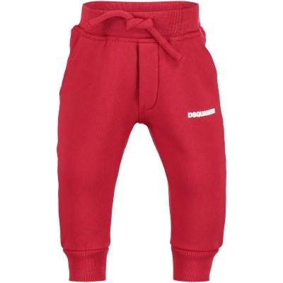 Afbeelding van Dsquared2 DQ02FD baby joggingpak rood