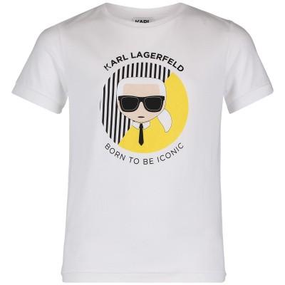 Afbeelding van Karl Lagerfeld Z25175 kinder t-shirt wit