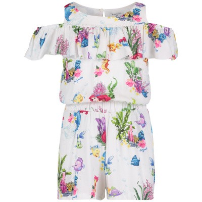 Picture of MonnaLisa 113201 kids jumpsuit white