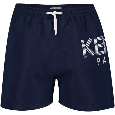 Picture of Kenzo KN38538 kids swimwear navy