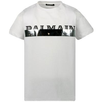 Picture of Balmain 6L8501 kids t-shirt white