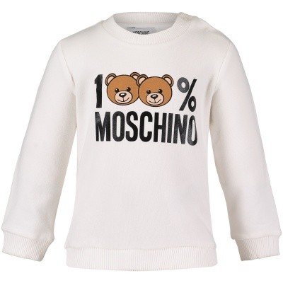 Picture of Moschino MTF00T baby sweater off white