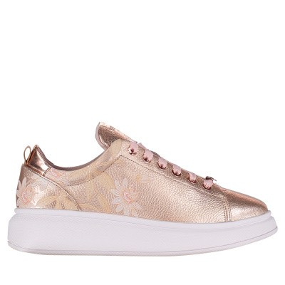 Picture of Ted Baker 918483 womens sneakers gold