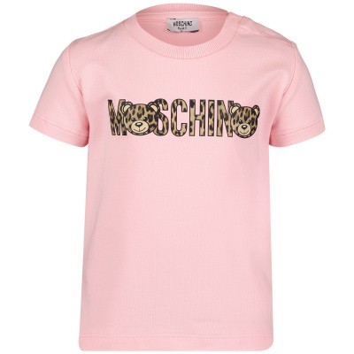 Afbeelding van Moschino MYM01N baby t-shirt licht roze