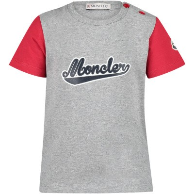 Picture of Moncler 8023850 baby shirt grey
