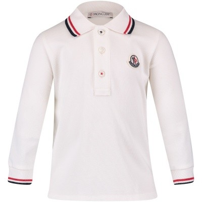 Afbeelding van Moncler 8305505 baby polo off white