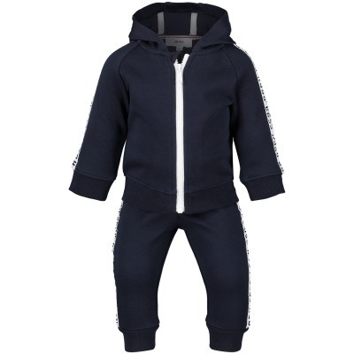 Picture of Boss J08031 baby sweatsuit navy