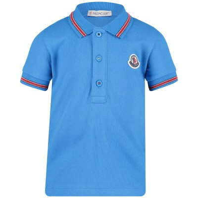 Picture of Moncler 8306605 baby poloshirt turquoise