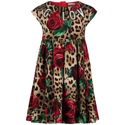 Afbeelding van Dolce & Gabbana L5JD0J kinderjurk panter