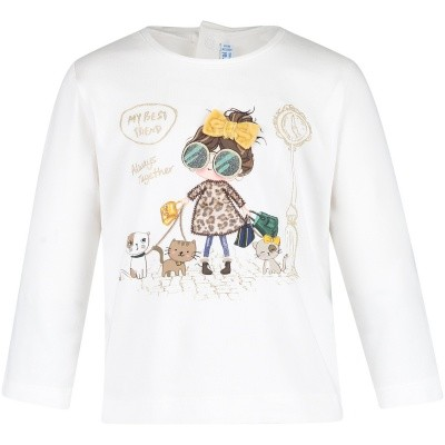 Afbeelding van Mayoral 2046 baby t-shirt off white