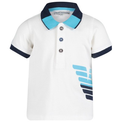 Picture of Armani 3GHF02 baby poloshirt white