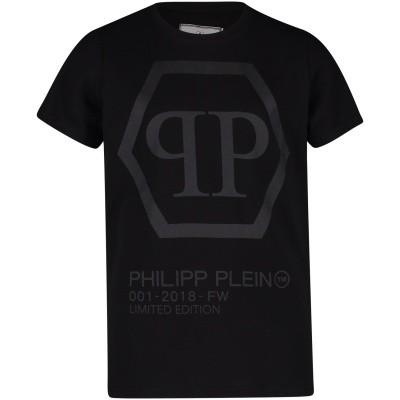 Afbeelding van Philipp Plein BTK0550 kinder t-shirt zwart