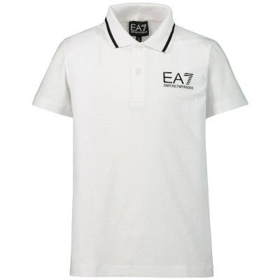 edd084f7691 Afbeelding van EA7 3GBF51 kinder polo wit