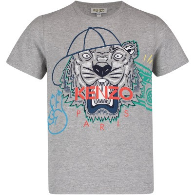 Picture of Kenzo KN10698 kids t-shirt grey