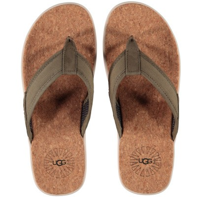 Picture of Ugg 1099749 womens flipflops army