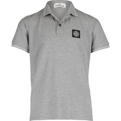 Picture of Stone Island 701621348 kids polo shirt grey