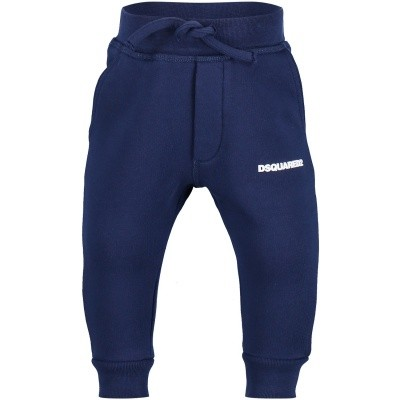 Picture of Dsquared2 DQ02FD baby sweatsuit blue