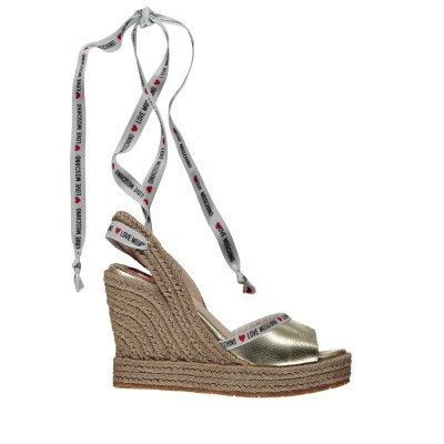 Picture of Moschino JA1633 womens sandals gold