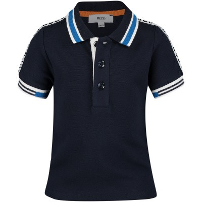 Picture of Boss J05693 baby poloshirt navy