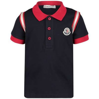 Picture of Moncler 8311150 baby poloshirt navy