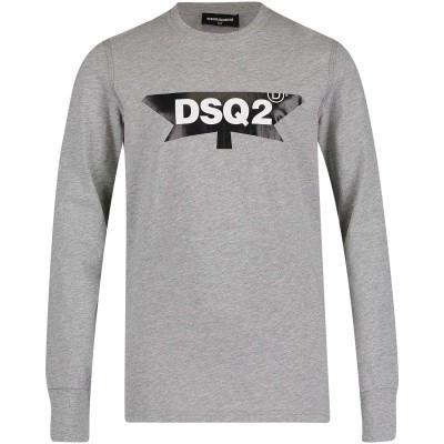 Afbeelding van Dsquared2 DQ030R kinder t-shirt grijs