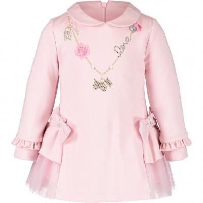Afbeelding van Lapin 82E3232 babyjurkje licht roze