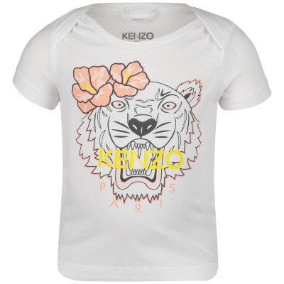 Picture of Kenzo KN10023 baby shirt white
