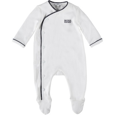 Picture of Boss J97137 baby playsuit white