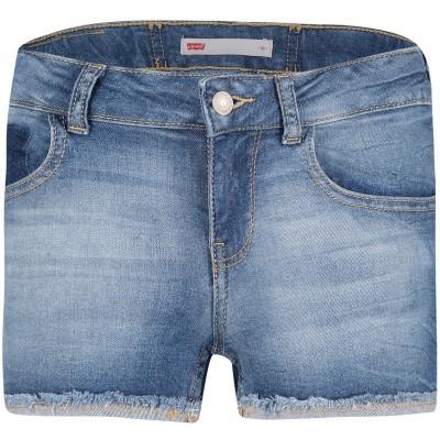 Afbeelding van Levi's NN26547 kinder shorts jeans