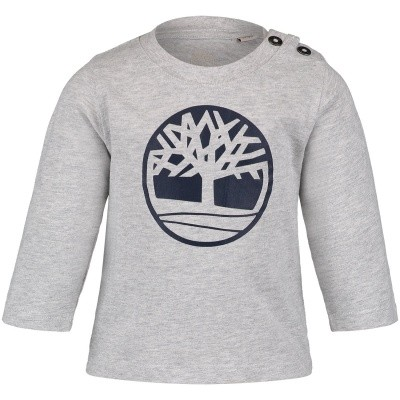 Picture of Timberland T05Z01 baby shirt grey