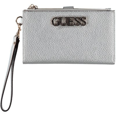 Picture of Guess SWMG7301570 womens wallet silver