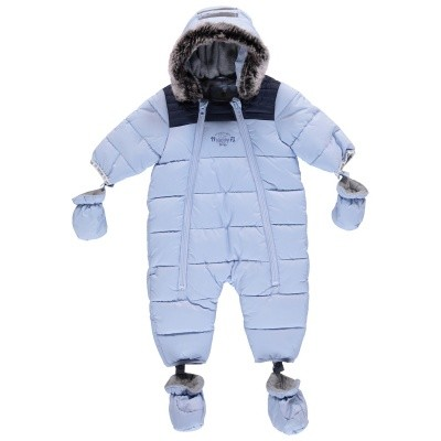 Picture of Timberland T96233 baby snowsuit light blue