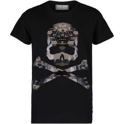 Afbeelding van Philipp Plein BTK0522 kinder t-shirt zwart