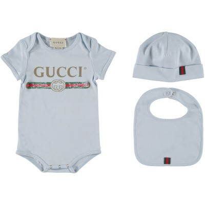 Picture of Gucci 516326 rompersuit light blue