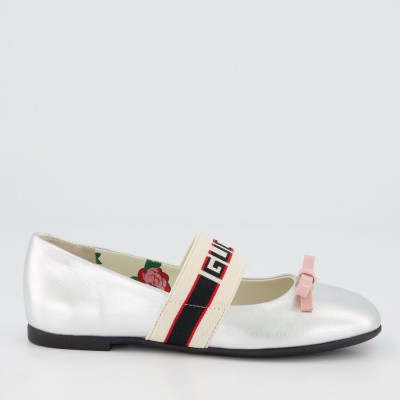 Picture of Gucci 553001 kids shoes silver