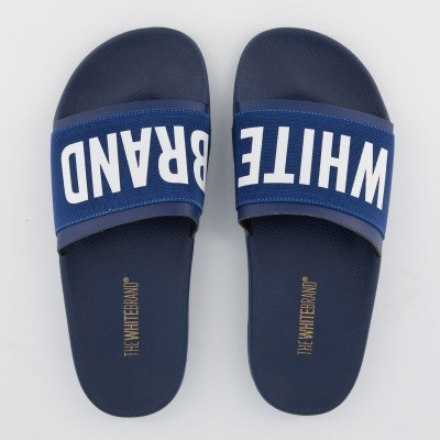 Afbeelding van The White Brand M0100 heren slippers navy