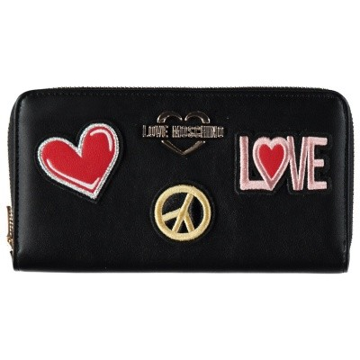 Picture of Moschino JC5604 womens wallet black