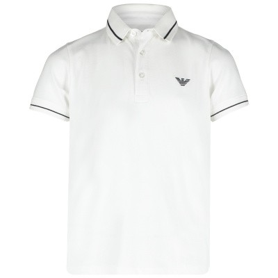 Picture of Armani 3G4F65 kids polo shirt white