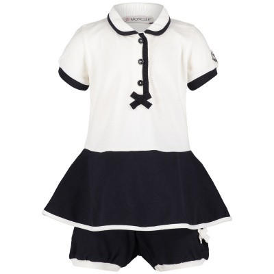Picture of Moncler 8571605 baby dress navy