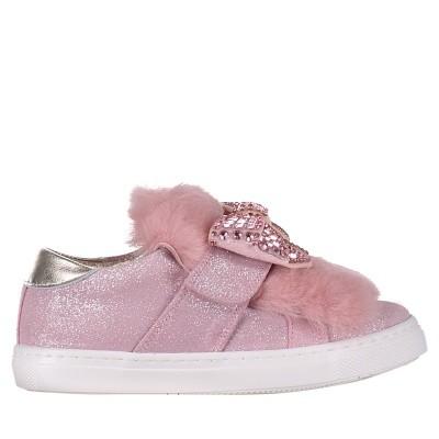 Afbeelding van MonnaLisa 832010 kindersneakers licht roze